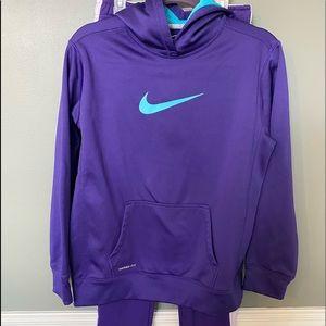 Nike Dri Fit girls marching set hoodie sweatpants